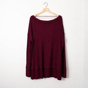 Free People Fig Sorbet Oversized Top + Thumb Holes